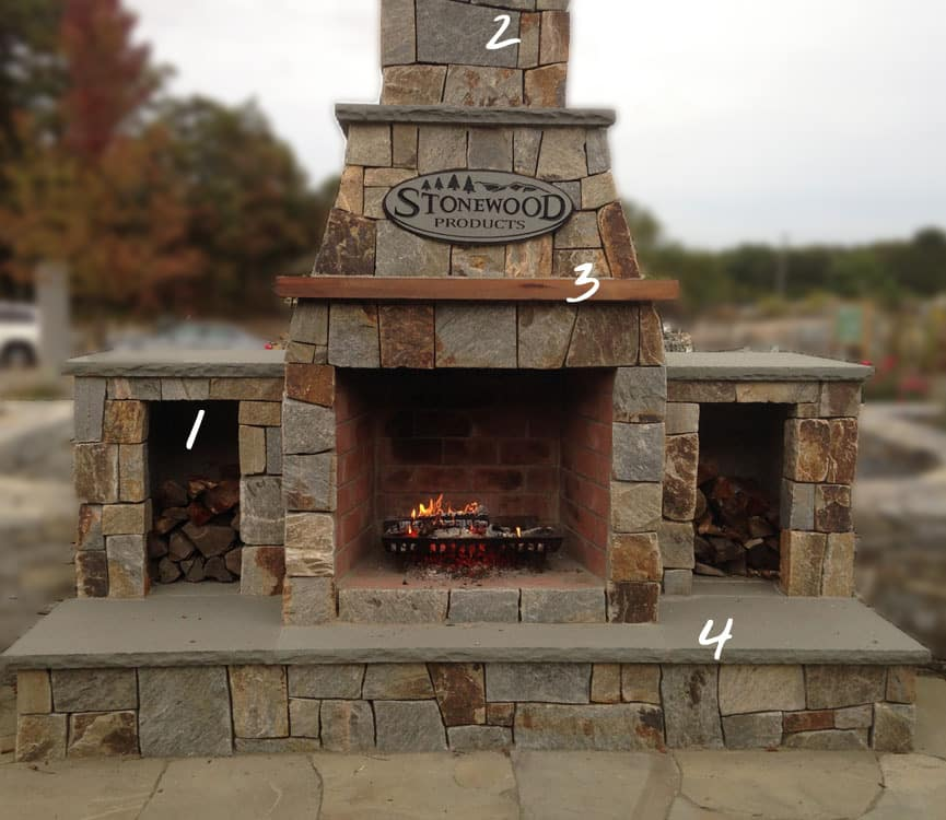outdoors fireplace kits. outdoor fireplace arched front 42in showroom with add  Outdoor Fireplaces Stonewood Products