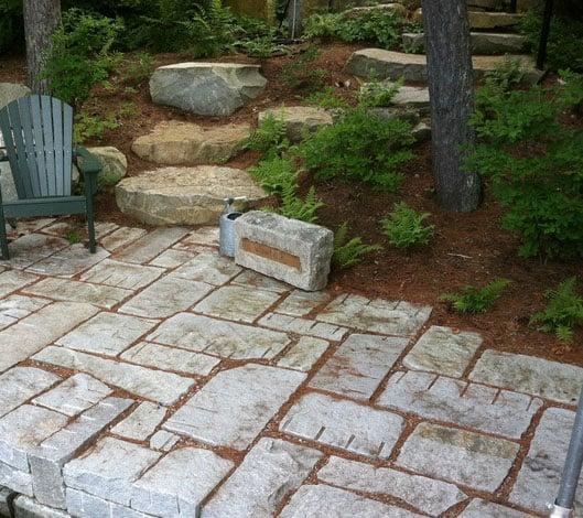 Antique Reclaimed Granite Pavers Cape Cod South Boston MA - Granite patio pavers